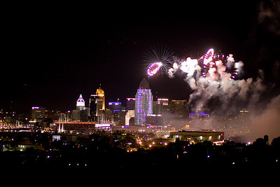 Riverfest Fireworks over Cincinnati
